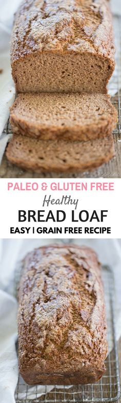 Paleo brown bread. Healthy gluten free best bread recipes for the paleo diet.