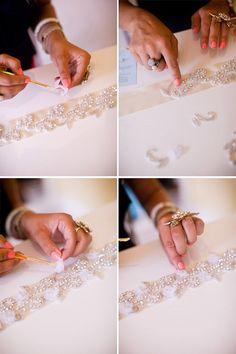 Como hacer un cinturon para vestidos de novia (4)