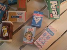 Vintage Kaufmannsladen & Küche - 24 Kleine Schachteln für den Kaufladen 60 er Jahre - ein Designerstück von KleineStadt bei DaWanda