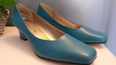 BELLINI Womens Delicious Blue Leather Pumps Classic High Heels Shoes 6.5 NEW  #Bellini #PumpsClassics #PartyWork
