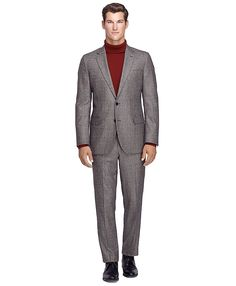 Fitzgerald Fit Saxxon Wool Plaid Sport CoatBlack