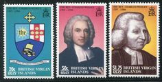 Virgin Islands Rev. Charles Wesley Hymm Writer Stamps The Rev, Virgin Islands, Stamp Collecting, Postage Stamps, Writer, Father, Baseball Cards, Pai, Us Virgin Islands