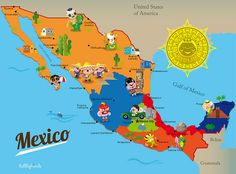 Map Of Mexico Ive Been Seeing A Lot Of Maps Like This With - A map of mexico