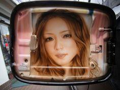 エアーブラシ|自動車の外装・内装ドレスアップ ONESTAR★ワンスター  安室奈美恵 エアーブラシ ポートレート
