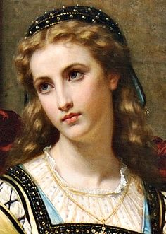 "Hugues Merle, ""La Contemplation"" or, ""Romeo and Juliet"", detail"