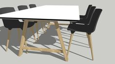 TAC Chairs and Bykato Conference table by Andersen - 3D Warehouse