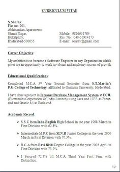 B Tech Fresher Resume Sample Download Sample Template Example Of