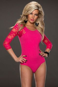 2015 new Baby rosy black Pink Lace Sleeves Teddy Lingerie LC3172 sexy lingerie body suits for women bodysuit overalls for women Sexy Gifts Valentine's Day Wife Honeymoon