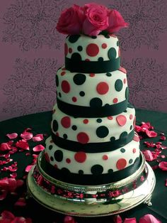 I love the polka dots with the red & black