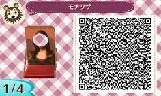 Mona Lisa Face Board Animal Crossing New Leaf Qr Code