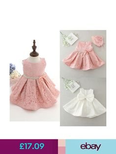 bbb382080 Kids Girls Toddler Baby Princess Christening Pageant Flower Dresses Stock Y