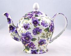 Pansy chintz teapot