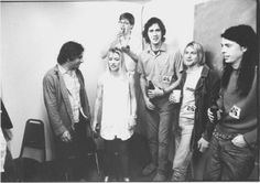 Nirvana & Sonic Youth backstage, 1991.