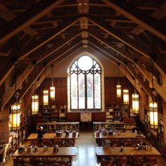 """whilereadingandwalking: """" Oriental Institute reading room, University of Chicago A wonderful place to read, if you're serious about it… Quiet enough to hear the pages turning. Future School, Dream School, Evanston Chicago, Castle School, College Motivation, Chicago University, School Architecture, Private School, Travel Aesthetic"""