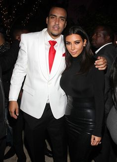 Kim Kardashian Parties in an All-Black Number at French Montana's Birthday