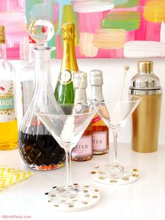 DIY Bar Styling without a Bar Cart - Easy and creative ideas to style your own bar anywhere with real DIYs.