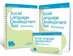 """""""Many children perform well on traditional language tests, yet their social language skills are inadequate. This test will substantiate the influence of your students' language disorders on their social disorders and qualify them for therapy.... The test assesses the language required to appropriately infer and express what another person is thinking."""""""