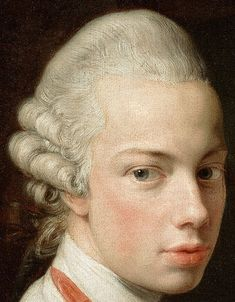 .:. Grand Duke Leopold of Tuscany, who would later become Holy Roman Emperor as Leopold II. Detail from Emperor Joseph II with Grand Duke Pietro Leopoldo of Tuscany, Pompeo Batoni, 1769