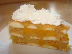Studený jablečný koláč