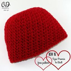 This crochet hat pattern is now available in sizes preemie to adult large. Perfect for your charity crochet projects My Little Love Crochet hat Pattern takes less than 1 ball of yarn.