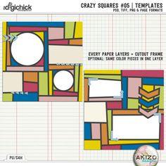 Crazy Squares #05 | Templates