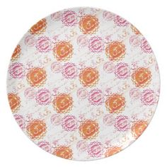 Dinner Plate with Om Pattern Yoga Gifts, Dinner Plates, Decorating Your Home, Personalized Gifts, Patterns, Color, Design, Products, Block Prints