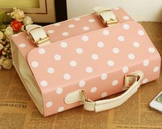 """Material: PU Leather Length: 25 cm / 9.8"""" Wide: 7.8 cm / 3"""" Height: 18.5 cm / 7.2"""" Available Colours: Khaki, Pink, Green, Blue, Red"""