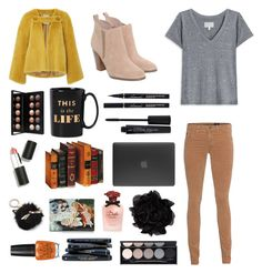 """""""Dinner"""" by tipsymermaid ❤ liked on Polyvore featuring Current/Elliott, AG Adriano Goldschmied, Michael Kors, Kate Spade, Smashbox, Incase, Sigma, Lanvin, Dolce&Gabbana and Olympia Le-Tan"""