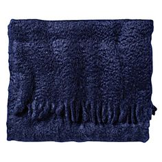 """Throw: """"Midnight"""" mohair and wool. Made in Spain. Gorgeous deep, indigo."""