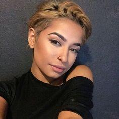 Pinterest: Nuggwifee☽ ☼☾ Beauty Makeup, Hair Makeup, Hair Beauty, Bad Eyebrows, Natural Hair Styles, Short Hair Styles, Beauty And The Beat, Flawless Beauty, L'oréal Paris