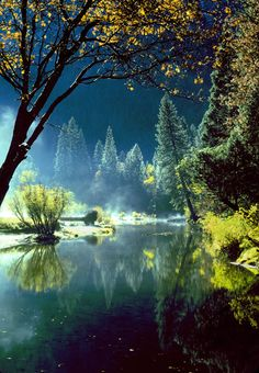 Merced River, Yosemite, California.