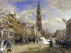 De paardenkeuring op de Grote Markt op 28 augustus 1920.  Otto Eerelman. Foto Scriptum Art