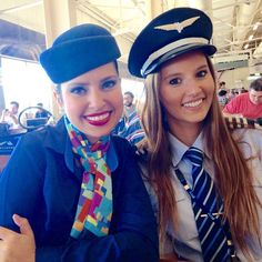 AZUL Cabin Crew and Female Pilot!
