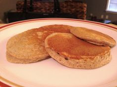 Biggest Loser Pancakes 6 egg whites 1 cup rolled oats, dry 1 cup cottage cheese 2 teaspoons sugar 1 teaspoon cinnamon 1 teaspoon vanilla  Put all the ingredients in a blender and blend until smooth and that's your batter!  Cook 'em up like you would any other pancake!