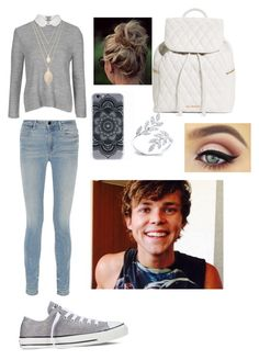"""Back to school with Ashton"" by i-love-5seconds-of-summer ❤ liked on Polyvore featuring Topshop, Alexander Wang, Vera Bradley, Forever 21, Converse, women's clothing, women's fashion, women, female and woman"