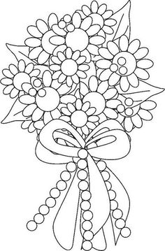 New embroidery flowers bouquet coloring pages 69 ideas Wedding Coloring Pages, Spring Coloring Pages, Flower Coloring Pages, Coloring Book Pages, Printable Coloring Pages, Coloring Pages For Kids, Coloring Sheets, Kids Coloring, Mandala Coloring