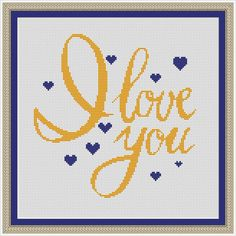 Love cross stitch pattern PDF instant download by WellStitches