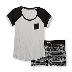Joe Boxer Women's Pajama Shirt & Shorts - Tribal - Clothing - Intimates - Sleepwear & Robes