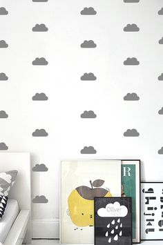Small clouds pattern from Stickaroo. A little bit of heaven right here on earth. You get: 60 small clouds. Each cloud is approximately 10cm.