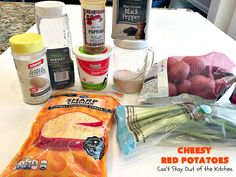 Cheesy Red Potatoes are made with red potatoes, sour cream, cheddar cheese, green onions & seasonings. Terrific with beef, chicken or pork. Perfect for holidays. Cheesy Red Potatoes, Mashed Potatoes, Potatoes Romanoff Recipe, Fish Recipes, Beef Recipes, Vegetarian Nachos, Vegetable Prep, Prime Rib Roast, Homemade Taco Seasoning