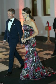Future queen of style: The stunning gown by Danish designer Julie Fagerholt Heartmade swep...