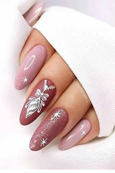 Nails Design: Night Entertainment for 42 Festive and Bright Nail Art Ideas For New 2019 – Page 37 of 42 – eeasyknitting. com Nails Design: Night Entertainment for 42 Festive and Bright Nail Art Ideas For New 2019 – Page 37 of 42 – eeasyknitting. Nail Manicure, Gel Nails, Acrylic Nails, Xmas Nails, Holiday Nails, Christmas Nails 2019, Xmas Nail Art, Winter Nail Art, Christmas Snowflakes