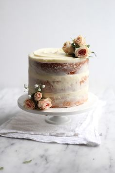 For floras sip n see - just make it carrot cake. Love the rustic look. Naked Banana Cake | The Baker Chick | Bloglovin'