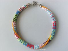 Emek PinariBead Crochet Necklace  Summer Beaded by NAZLI70 on Etsy, $80.00