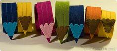 Felt pencil bookmarks (in Italian)