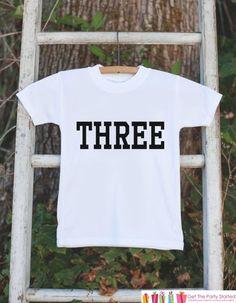 Three Birthday Shirt - Kid's 3rd Birthday #clothing #children #tshirt @EtsyMktgTool #threebirthdayshirt #3yearoldbirthday #birthdayshirt3
