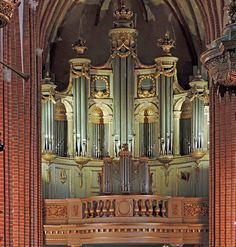 Phenomenally beautiful main organ in Stockholm Cathedral, also known as Church of St. Nicholas. Casework is from 1796, the instrument from 1960.