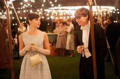 "Jane Hawking (Felicity Jones): ""What about you? What are you?..."" // Stephen Hawking (Eddie Radmayne): ""Cosmologist, I'm a Cosmologist."" // Jane Hawking: ""What is that?"" // Stephen Hawking: ""It is a kind of religion for intelligent atheists."" -- from The Theory of Everything (2014) directed by James Marsh"