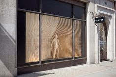 RIBA Regent Street London window projects: GANT with Sybarite Architects, pinned by Ton van der Veer