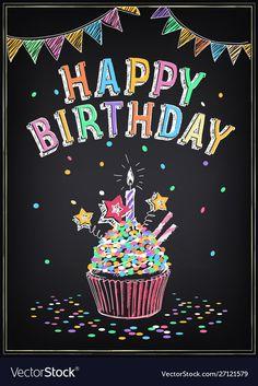 Birthday Msgs, Birthday Qoutes, Cute Birthday Wishes, Happy Birthday Art, Happy Birthday Wishes Images, 70th Birthday Parties, Birthday Greetings, Cupcake Candle, Cupcake Party